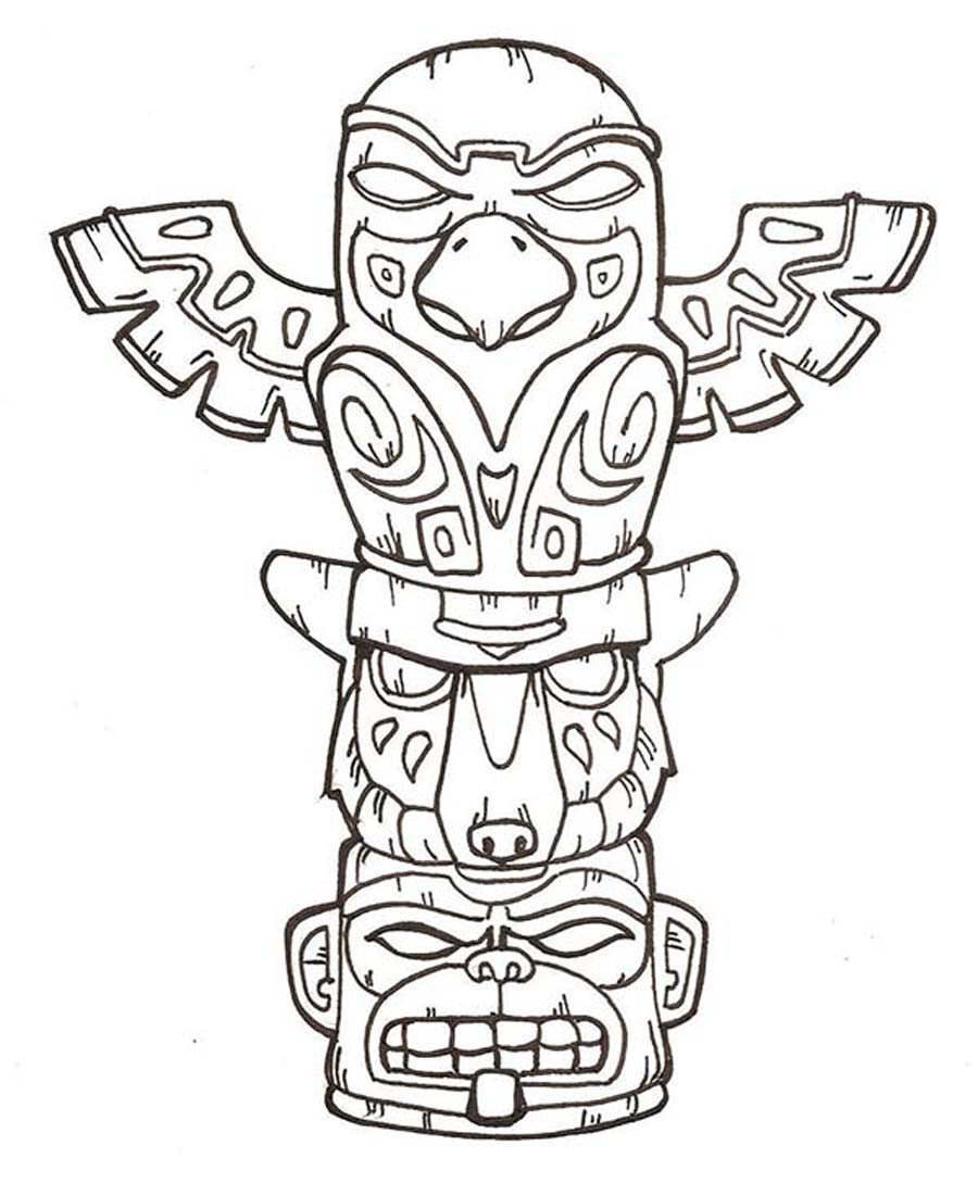 Totem Pole clipart drawn Google Totems Search template pole