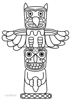 Drawn totem pole And Printable a How Pole