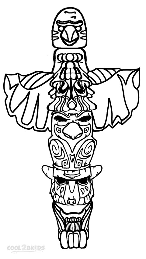 Drawn totem pole Pole For Pole Cool2bKids Coloring
