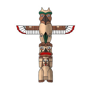 Totem Pole clipart inca Best Totem draw Pole to