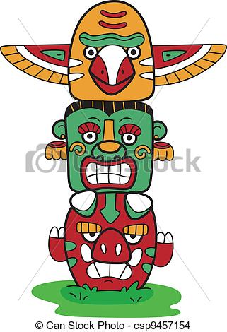 Totem Pole clipart vector Of  Vector Totem Totem