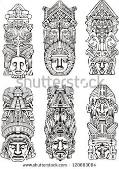 Totem Pole clipart japanese And illustrations Jennifer totem Abstract