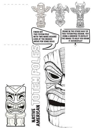 Drawn totem pole canadian Totem ideas Worksheet The best