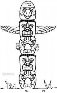 Drawn totem pole canadian Coloring Totem Mar 25 to