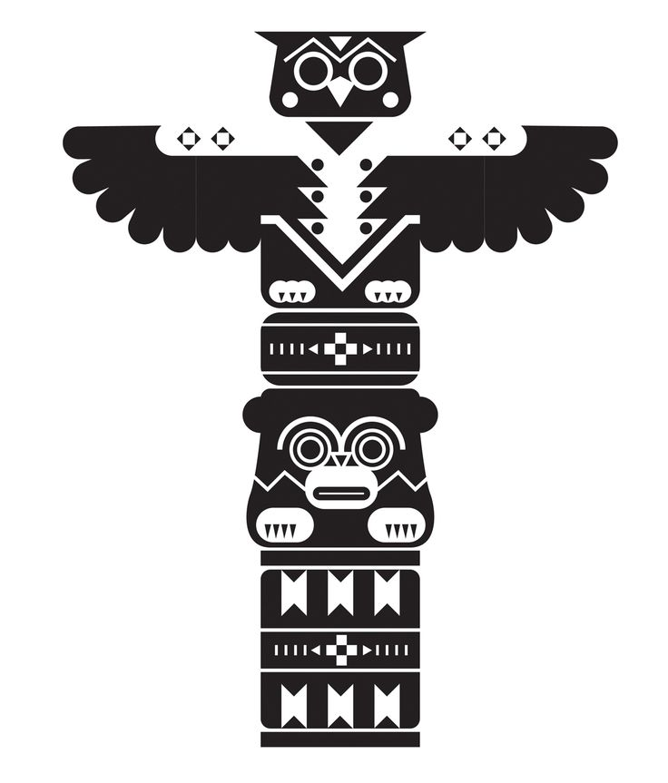 Drawn totem pole canadian 13 Pinterest images about warrior