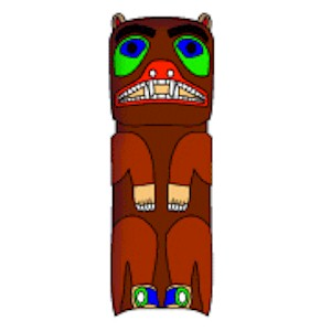 Totem Pole clipart paper Bear CRAFTS  Totem Cardboard