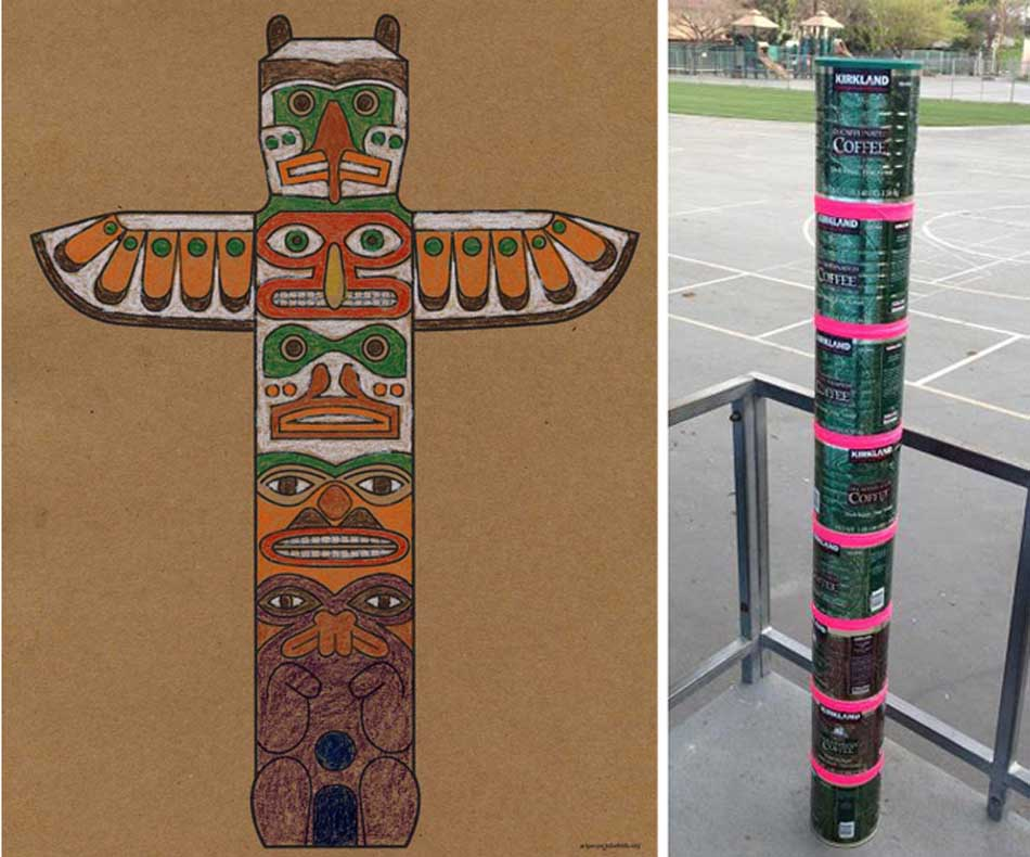 Totem Pole clipart paper Art American Totem Pole Page