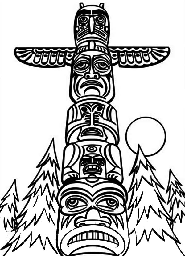 Totem Pole clipart drawn Totem Pages Pole Page Totem