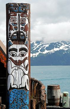 Drawn totem pole eskimo PolesNative was Tall majestic I
