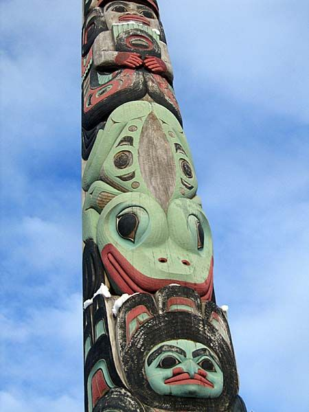 Drawn totem pole eskimo 725 Tlingit best Totem /