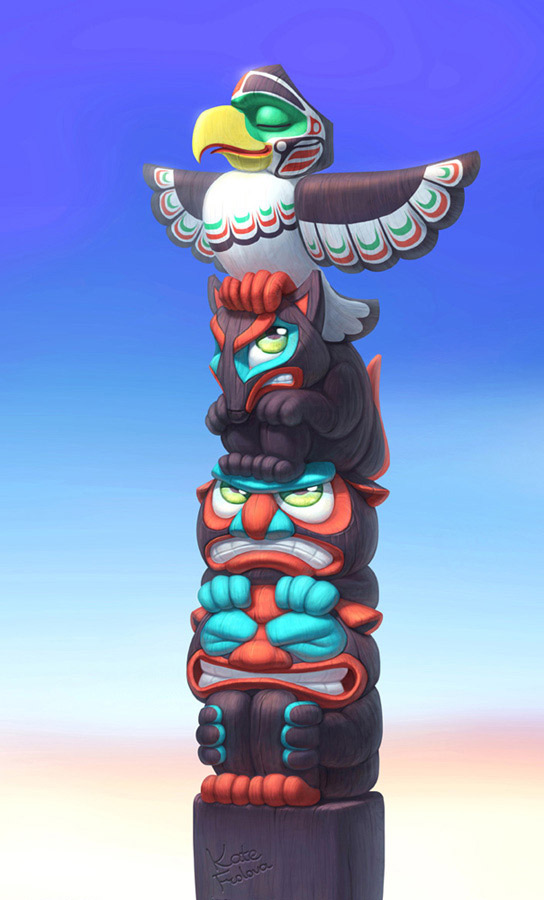 Drawn totem pole funny That a this feels really