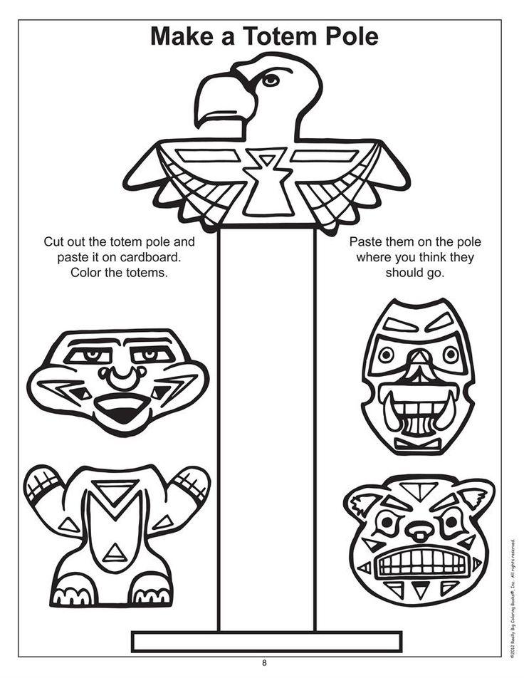 Drawn totem pole funny 1 booklet printable Raven series