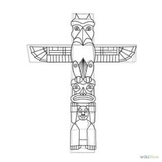 Drawn totem pole funny Totem draw and printable &