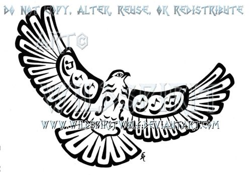 Drawn totem pole hawk Hawk Musical Tattoo by on