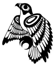 Drawn totem pole hawk On Request deviantART Tattoo Hawk