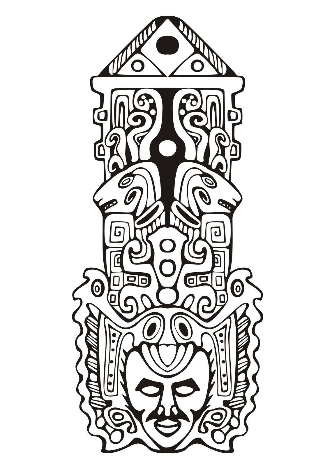 Totem Pole clipart inca Inca adult mayan inspiration page