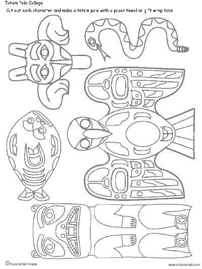 Drawn totem pole northwest A 25 Mar How on