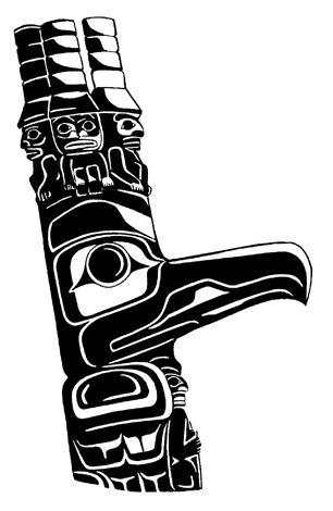 Drawn totem pole northwest A6 Pole Totem 27 Pinterest
