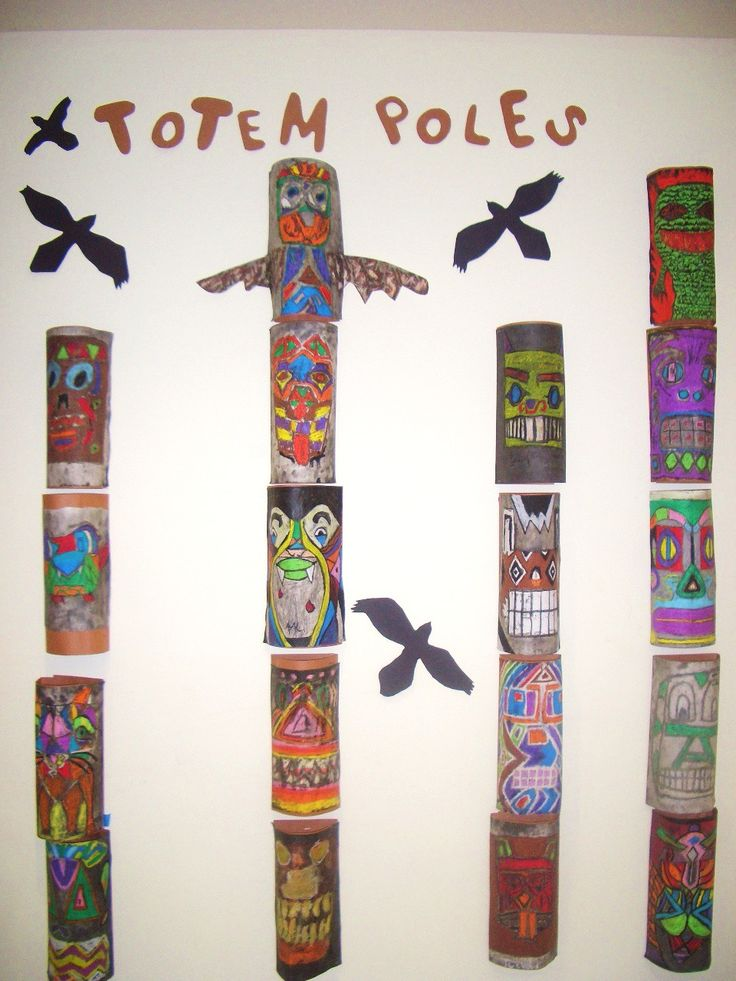 Drawn totem pole northwest On this Find Pin stories