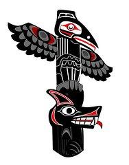 Drawn totem pole northwest Wolf to how draw Wolf