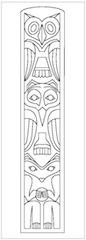 Drawn totem pole northwest Level to How Draw Art