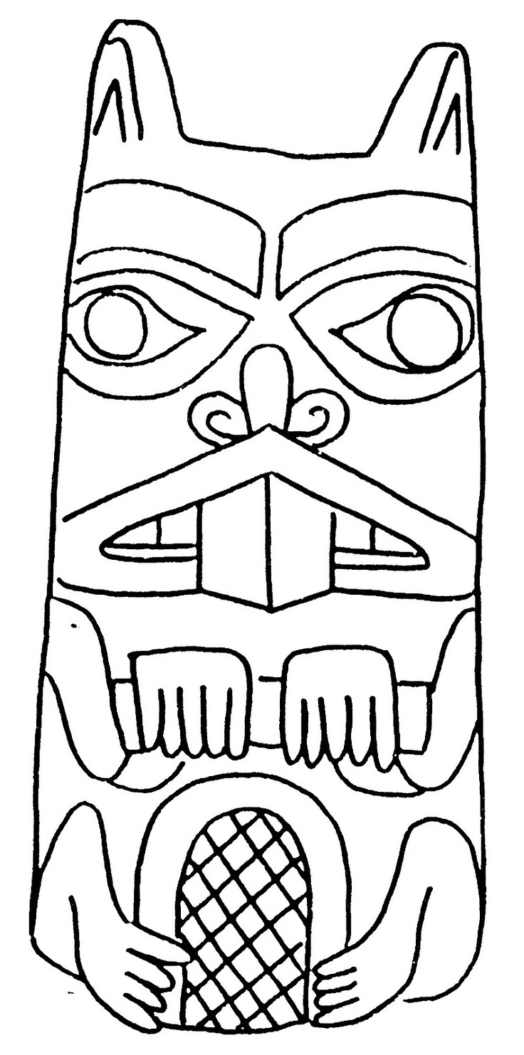 Totem Pole clipart drawn Kids Pinterest Page Totem Totem