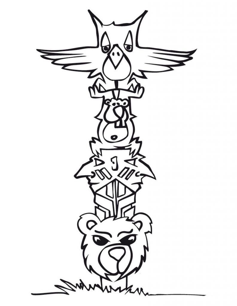 Totem Pole clipart drawn (74+) pole Totem Pole totem