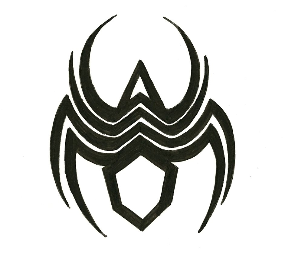 Drawn totem pole spider Tats: (blank template) Spider by