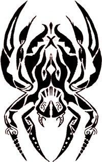 Drawn totem pole spider – Spider ohmz www Tribal