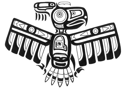 Totem Pole clipart thunderbird · on bird best tattoo