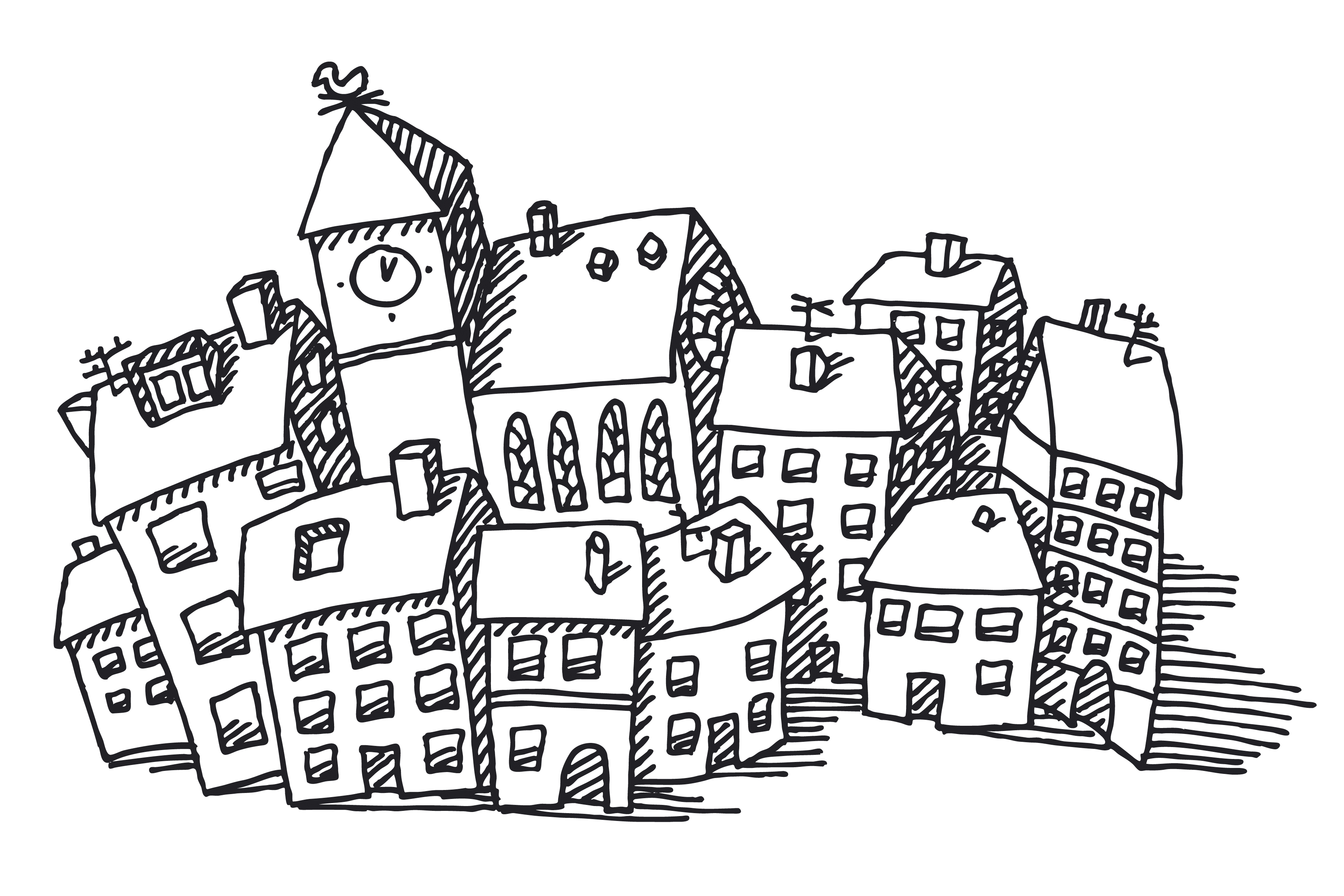Drawn town Reasons of little a drawn