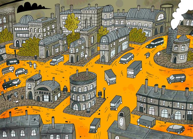 Drawn town Darryl Investigates: Cunningham Green Town