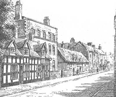 Drawn town Drayton town old Drayton Shropshire
