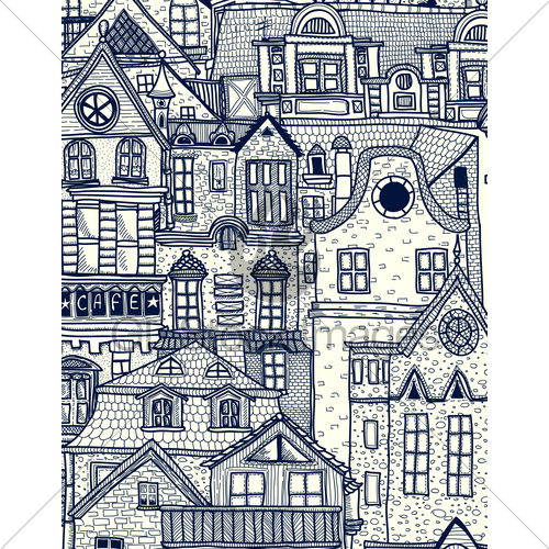 Drawn town GL Old Hand Town Drawn
