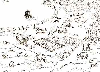 Drawn village small #3