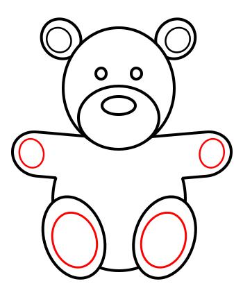 Drawn toy  teddy bear a to