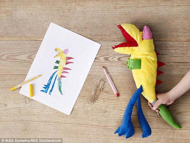 Drawn toy Toys tiger Stinky cuddly scary