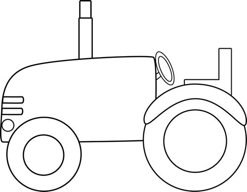 Tractor clipart black and white #2