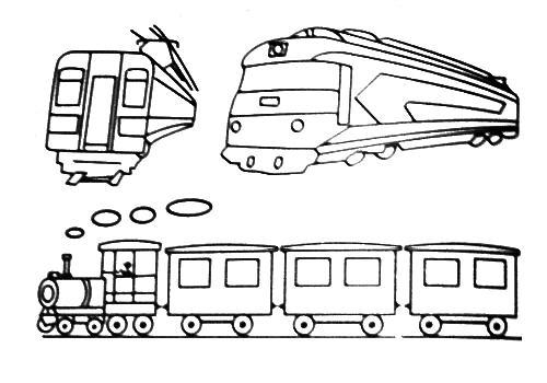 Drawn train Art Kids trucks and Free