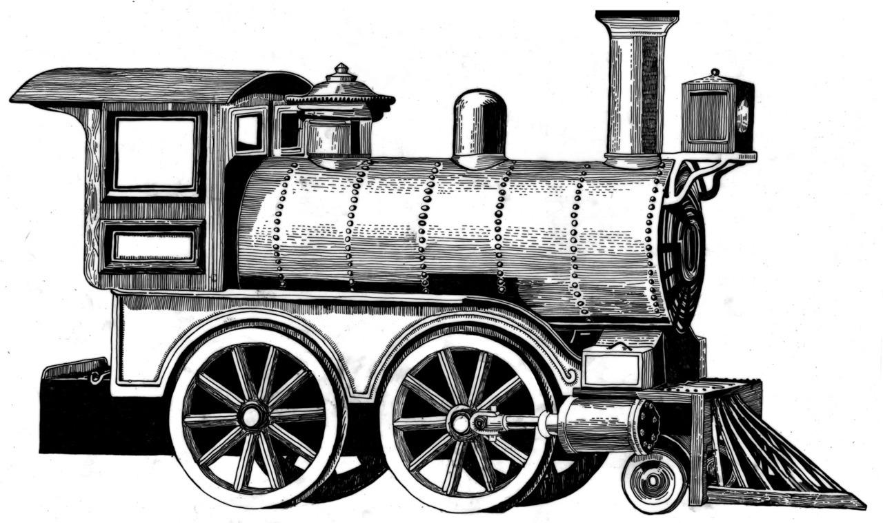 Drawn train #4