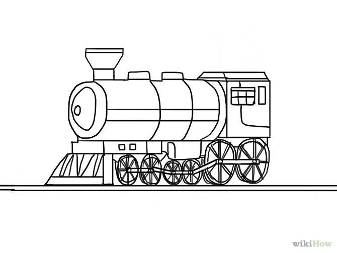 Drawn train Clip Train a Art Draw