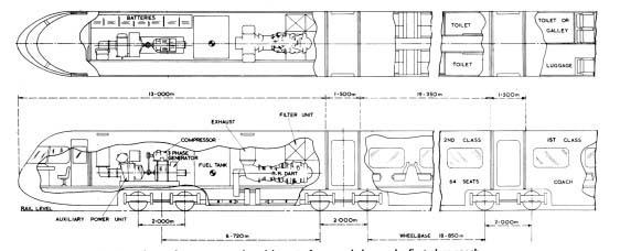 Drawn train passenger train Advanced concept E original Original