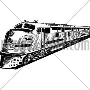 Drawn train passenger train Trains  RetroClipArt com