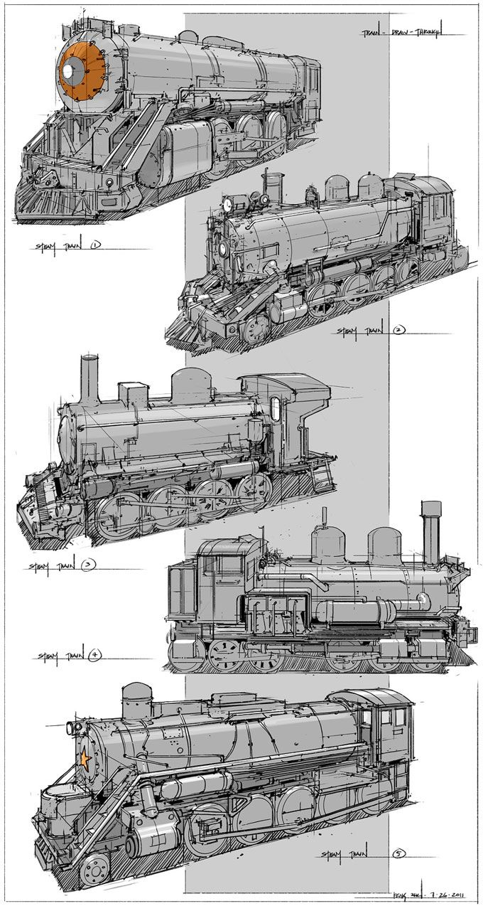 Drawn train technical drawing Pinterest steam and on more