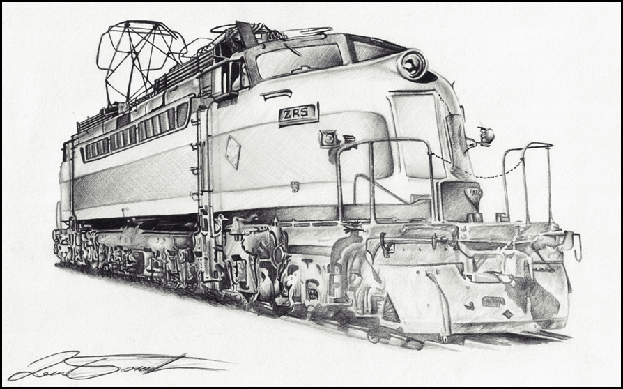 Drawn train technical drawing Clip Art library AlexMahone on