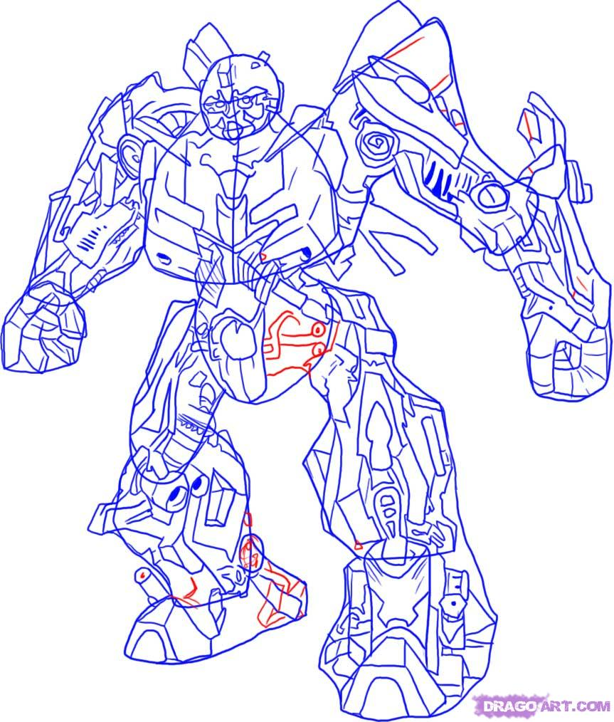 Drawn transformers Step Bumblebee Cartoons Step how
