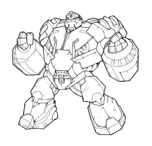 Drawn bumblebee head To Transformers bulkhead Draw prime