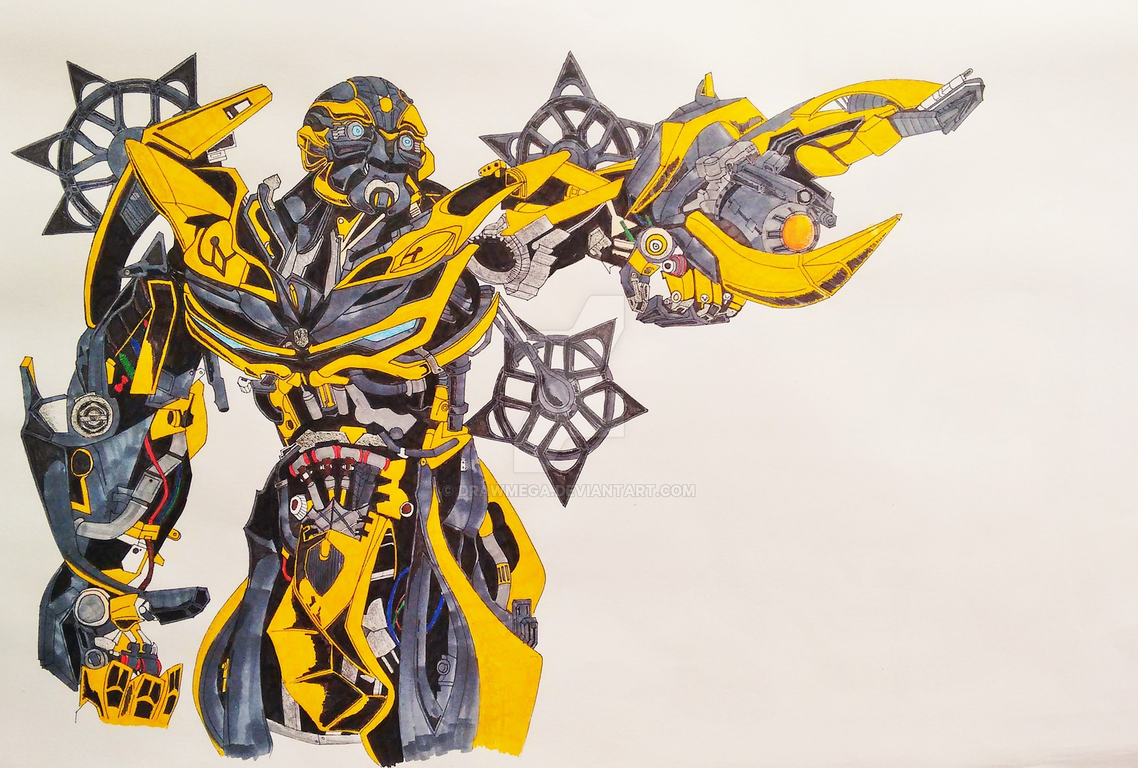 Drawn bumblebee transformers 4 bumblebee By DrawMEGA of transformers Bumblebee