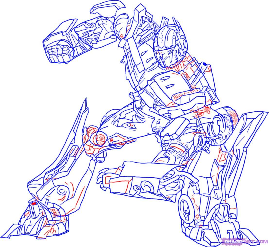 Drawn transformers Drawing Transformers Characters Optimus from Draw step draw