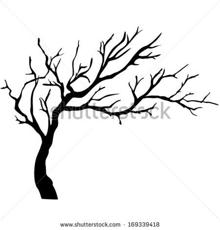 Branch clipart drawn Drawing Tree Realistic silhouette Free